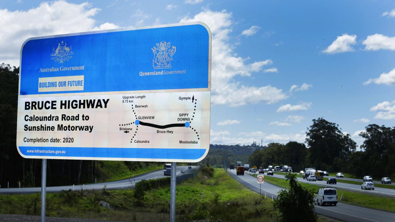 Plan of the upgrade to the Bruce Highway between Caloundra and Mooloolaba. Photo Lachie Millard