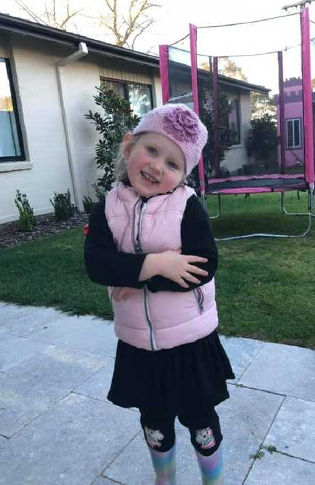 'Our hearts are shattered': The family of Annabelle Potts, 5, (above) has posted on Facebook that she has died from cancer.