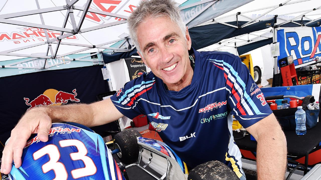Mick Doohan has turned his focus from two wheels to four to support his son Jack who is a karting champion. Picture: NIGEL HALLETT