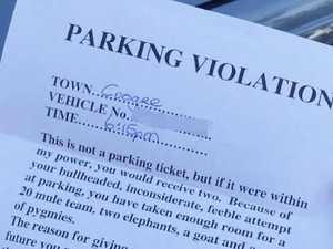 Bad driver cops brutal 'parking ticket'