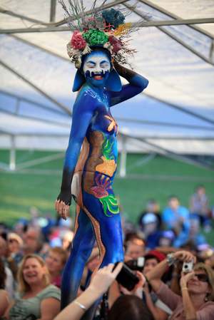The Australian Body Art Festival is Australia's premier body art event, attracting artists and spectators from across Australia and overseas.