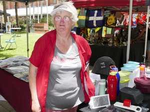 Catherine Scott at her stall at the Maryborough