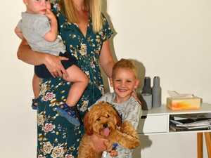 Lucy Holister with her family Charlie, 4, Noah 18
