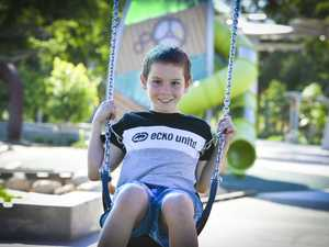 Zane, 9, at Lions park.