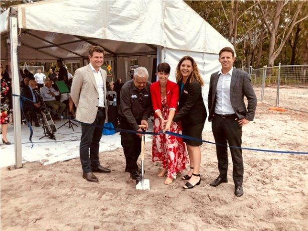 OFFICIAL LAUNCH: A Welcome to Country was given by Elder John of the Worrimi and a traditional smoking ceremony was performed by Elder Leigh followed by the official ceremonies led by the Mayor of Port Stephens - Ryan Palmer, Kate Washington Local Member for Port Stephens and Kevin Tucker CEO Hometown Australia.