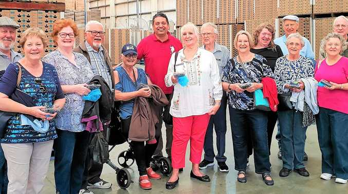 Probus Club members  recently visited the Oz-group blueberry processing and packaging complex.