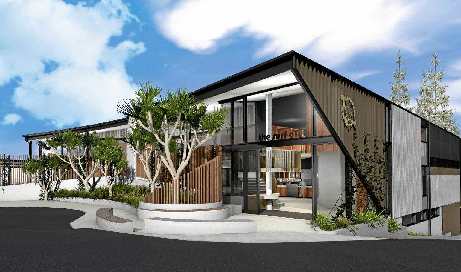 Architect impression of the new Sunshine Beach Surf Club, scheduled to open in November.