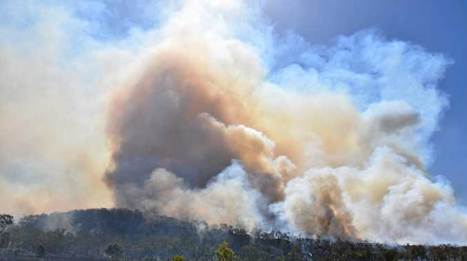 Central Highlands bushfires are still burning
