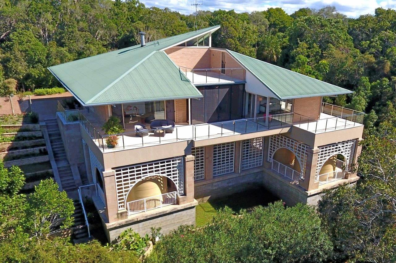 VALUE BUY: The house at 830 Fingerfield Rd sits on 77ha of sub-tropical rainforest.