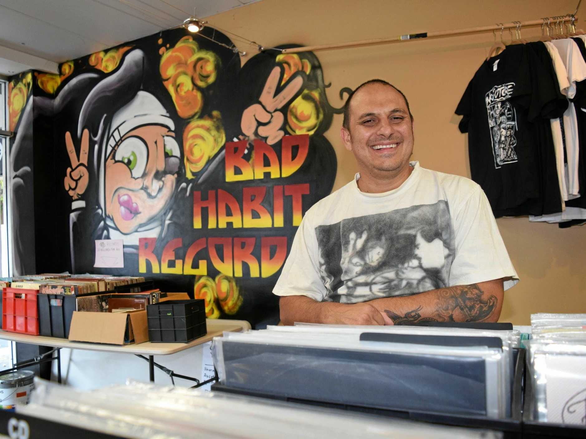 Aaron Borg is closing the doors to Bad Habits Records in the Ipswich mall at the end of January.