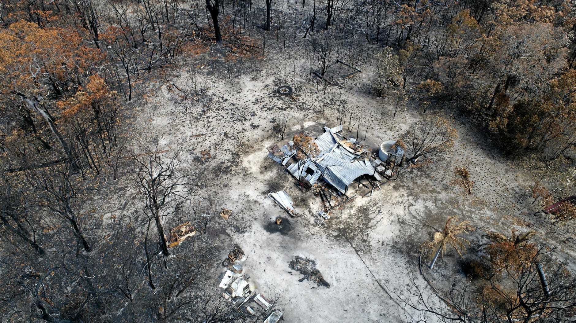 DEVASTATING: An aerial shot of damage at Deepwater from extensive fires in November and December last year.