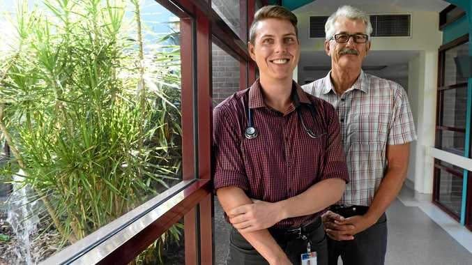 Medical intern Daniel Hempsey and medical education officer Bob Clarke are part of Hervey Bay Hospital's inter program who has just welcomed eight more interns to the ranks from last year.