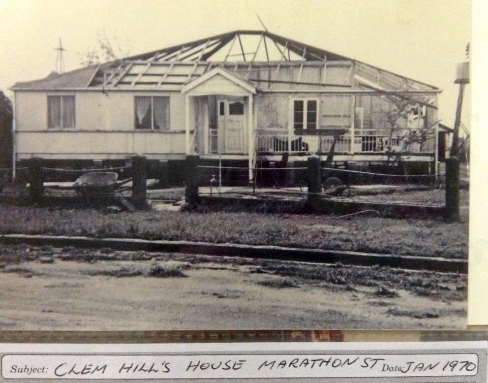 DISASTER ZONE: Clem Hill's house in Marathon St in January 1970 after Cyclone Ada.