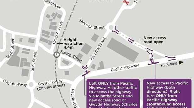 New access road to Pacific Highway to open today
