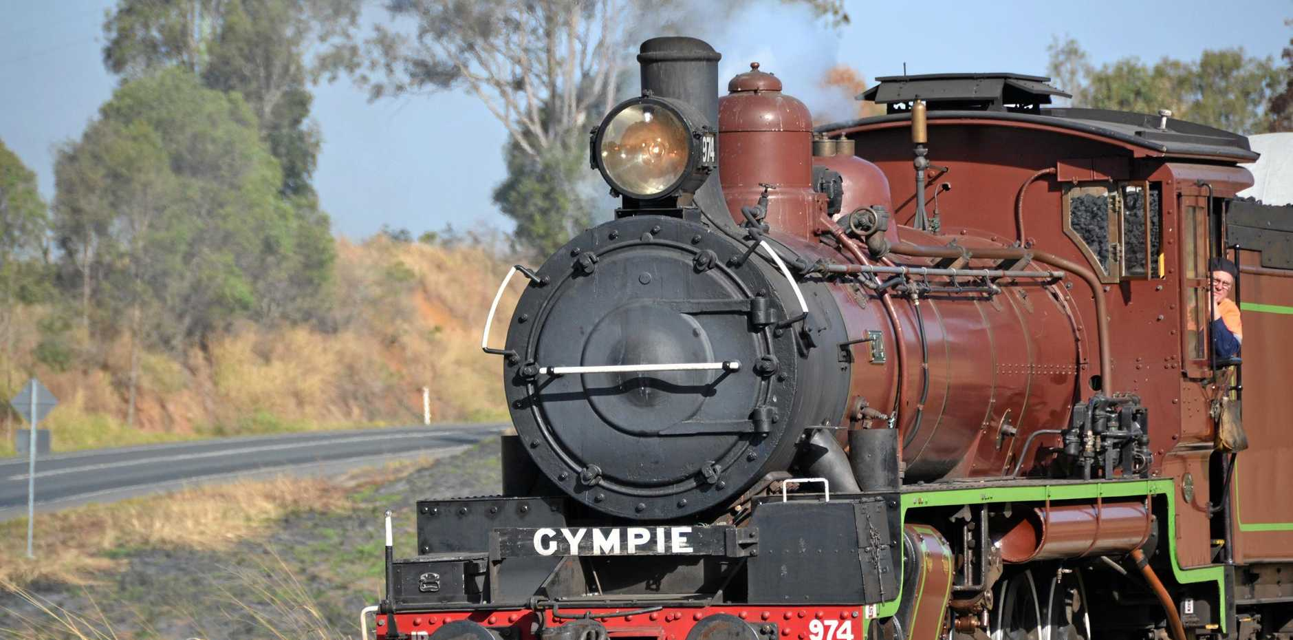 STEAMED: Ron Owen says Gympie Regional Council should help compensate for the destruction of an engine leased by the MVHR in 1998, as it could not run the Rattler without using other items from GDHS.