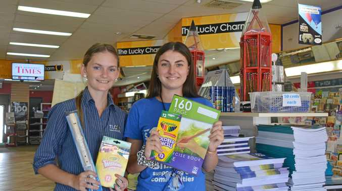 EXPERTS: Arleeya Taylor and Keeley Walker are ready to help families get ready for school at The Lucky Charm Newsagents.