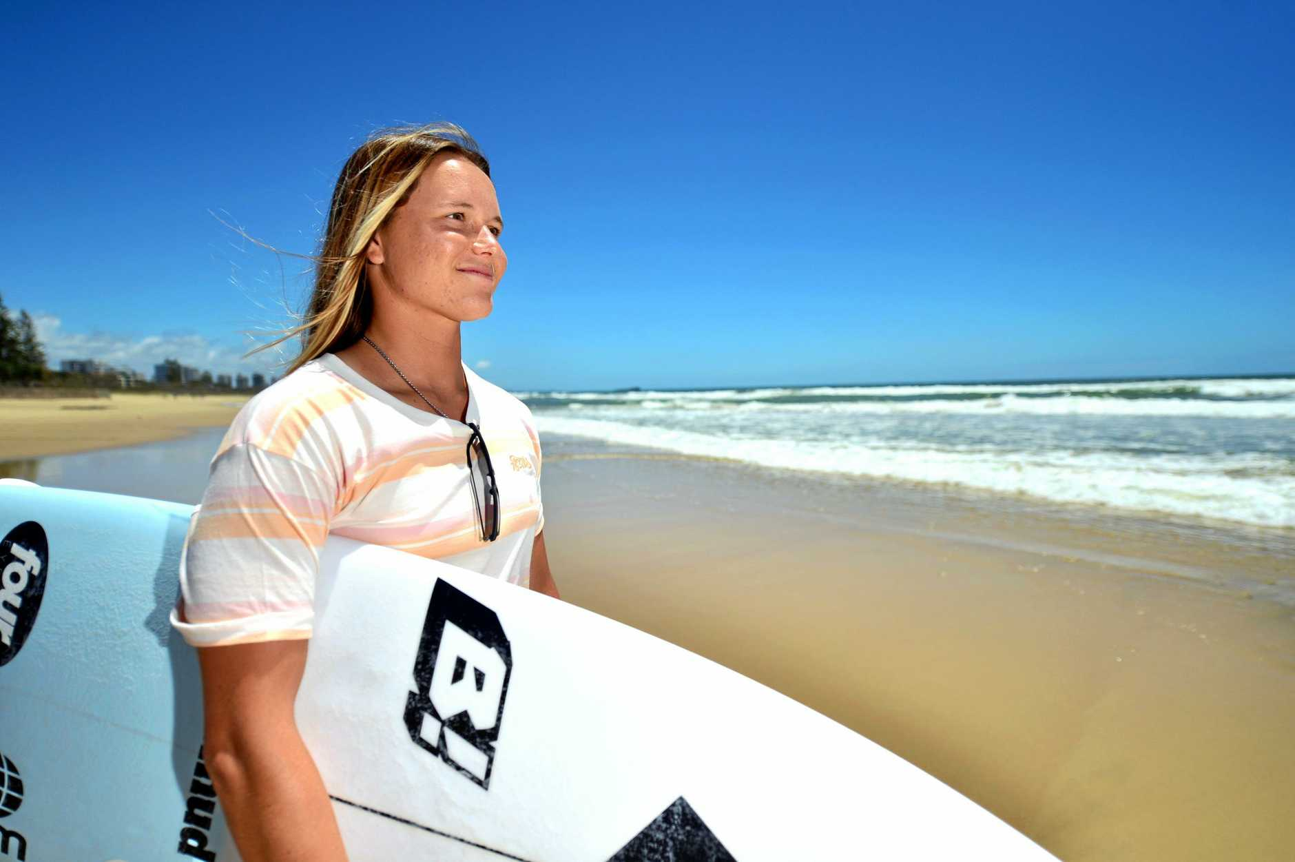 Professional surfer Keely Andrew is looking forward to getting back in the water after a 15 week lay-off with injury.