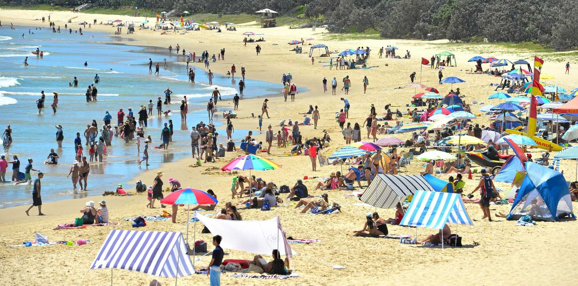 There's some brief respite ahead after temperatures hit more than 35C already on the Sunshine Coast today, but it won't last.