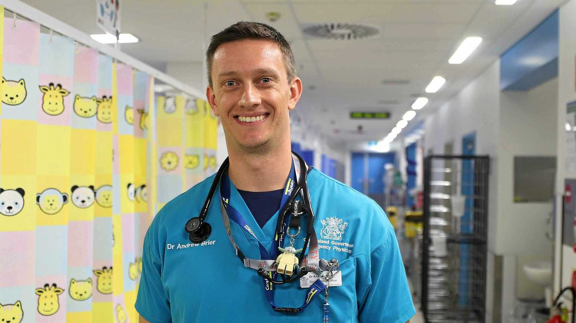 SNAKE WARNING: Mackay Base Hospital emergency physician Dr Andrew Brier has urged residents to abide by snake bite protocols.