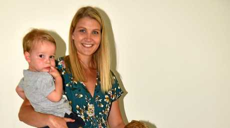 Lucy Holister with her family Charlie, 4, Noah 18 months and 'Ruby'