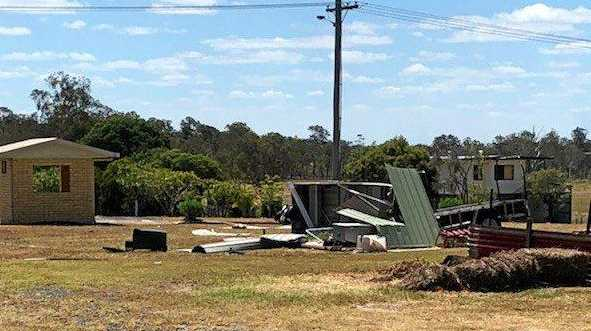 Willy willy damages sheds at aged units