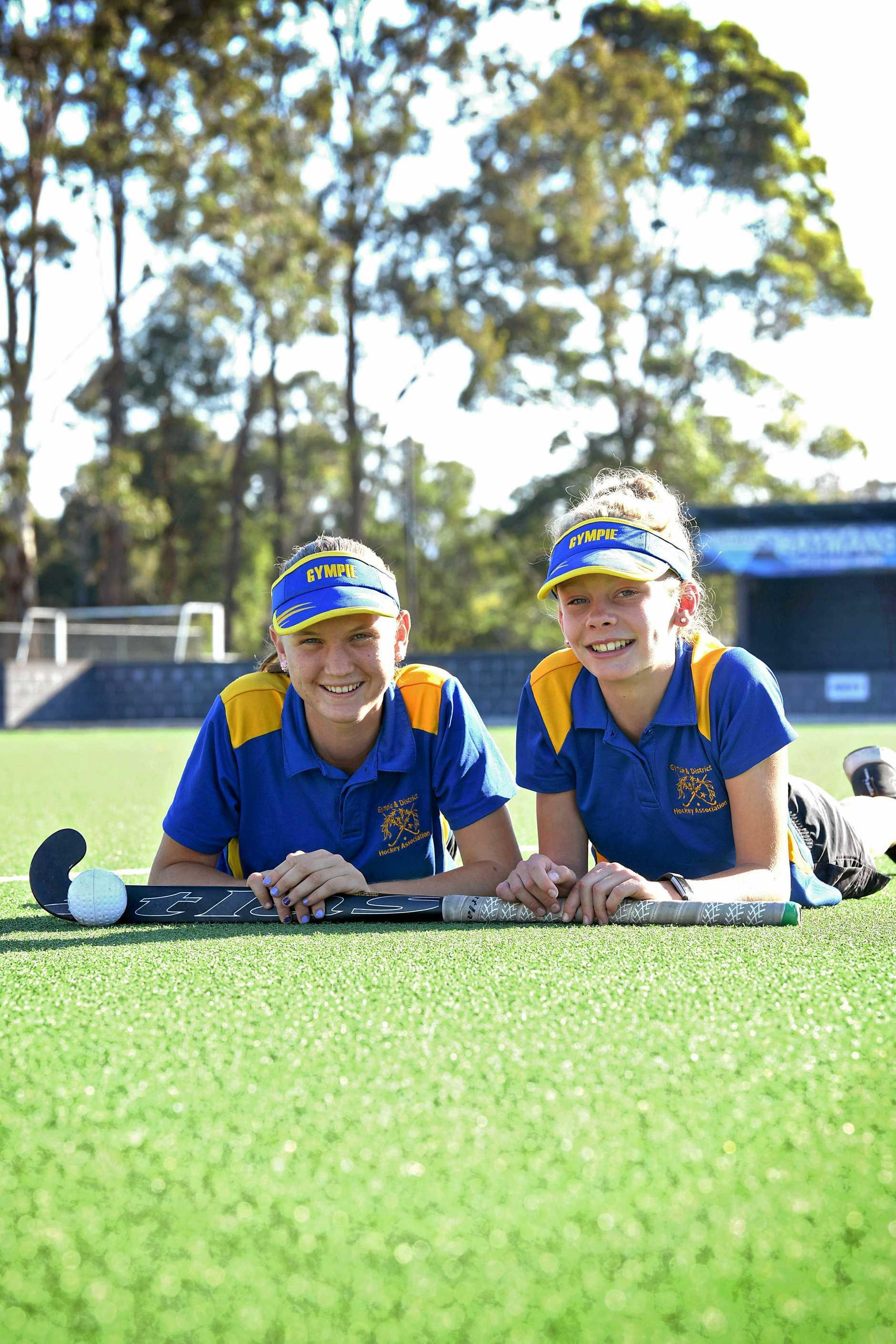 HOOKED ON HOCKEY: Jess Wilcox and Grace Dixon both enjoyed hooking into hockey last year.
