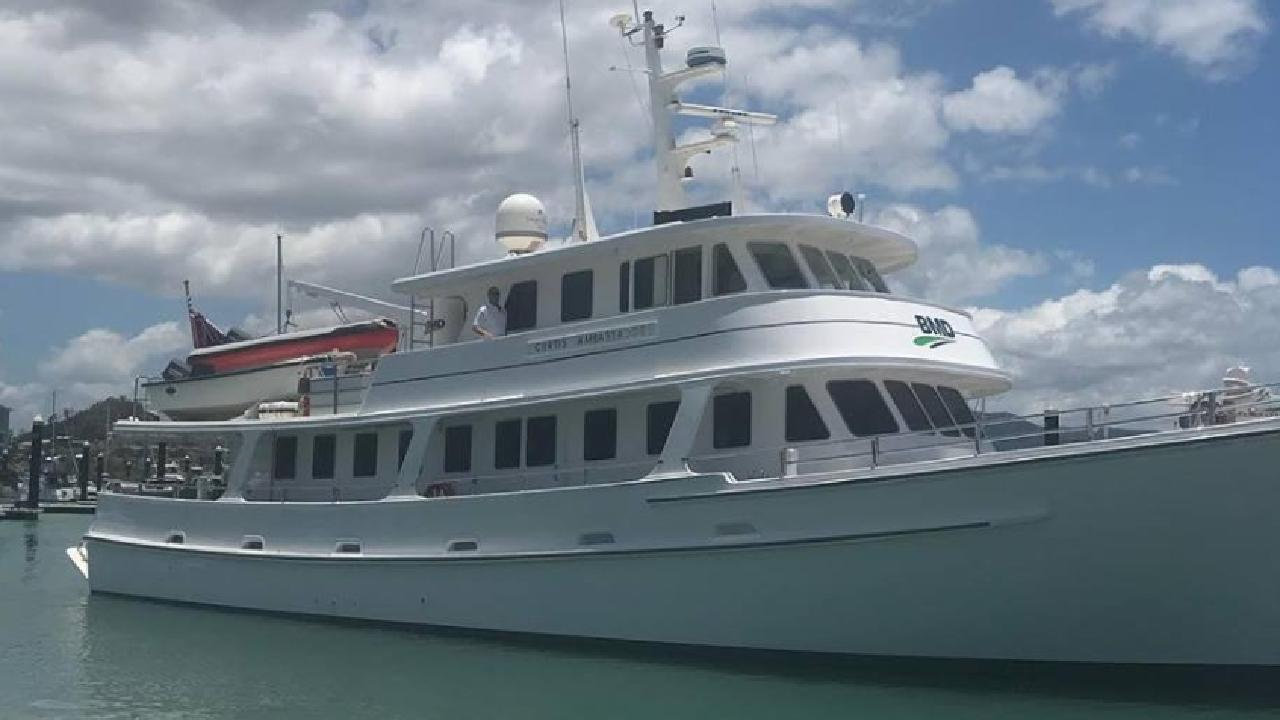 A Moreton Bay Regional Council senior staffer posted photos of herself on a developer's super yacht in the Whitsundays in November.