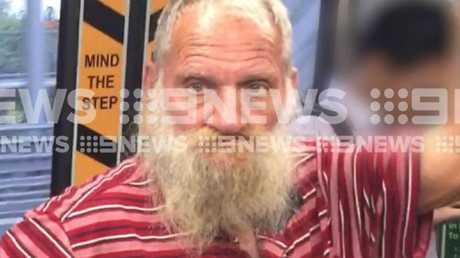 Robert John Fardon on a train. Pic 9 News