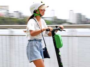 Woman in hospital after hit by electric scooter