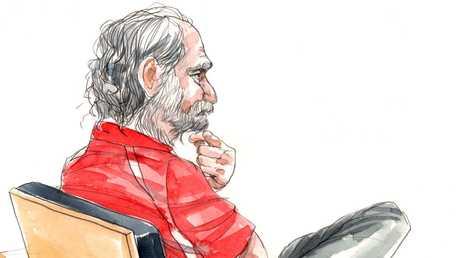 Sex Offender Robert John Fardon in court over plotting to escape. Artist Bentley