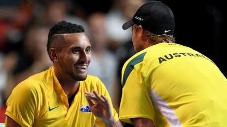 Nick Kyrgiosis the latest player to have a dig at Lleyton Hewitt