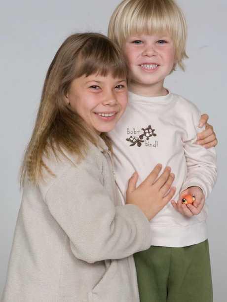 Bindi and Robert Irwin 10 years ago ...
