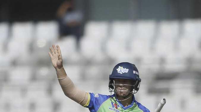 David Warner has injured an elbow in Bangladesh.