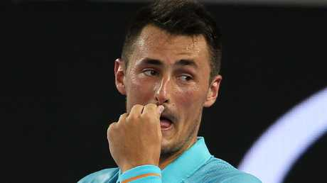 Bernard Tomic won't play Davis Cup under Lleyton Hewitt. Picture: Michael Klein