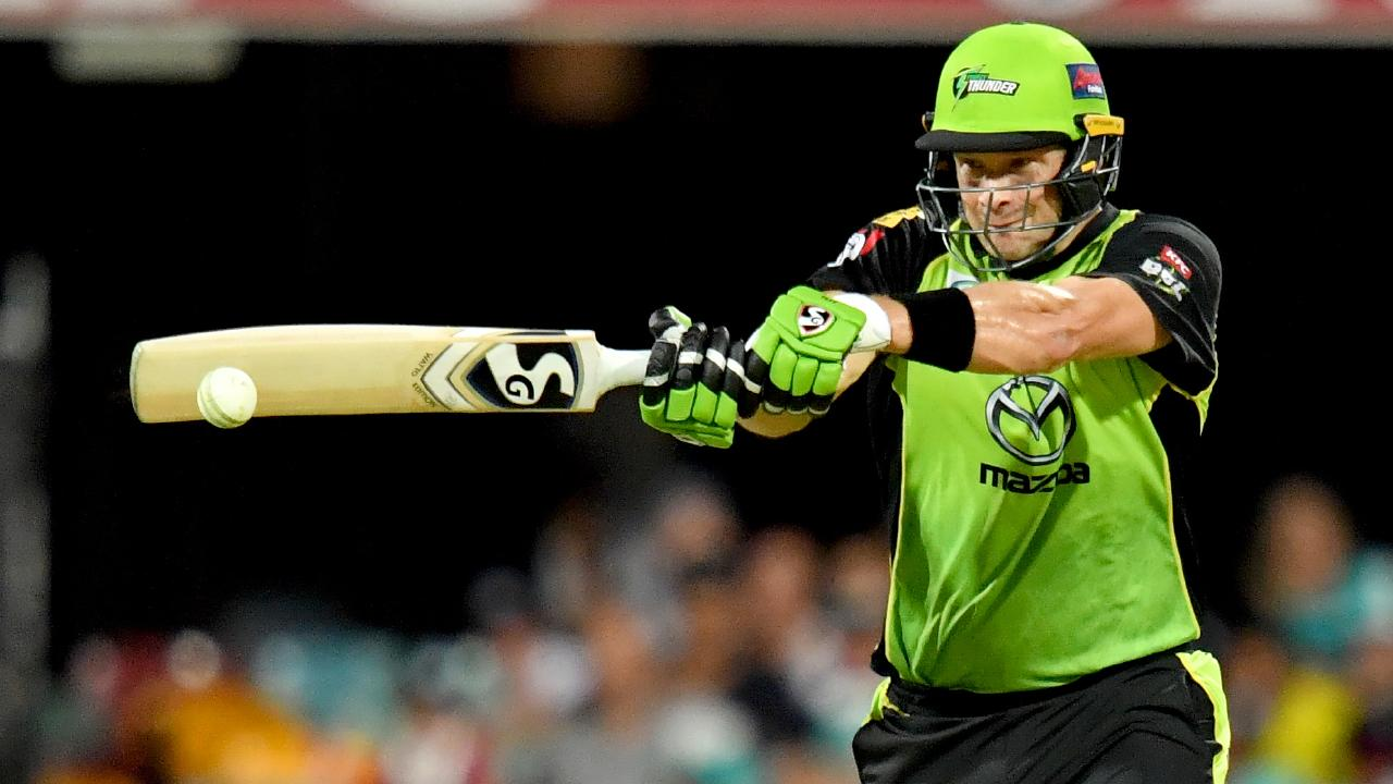 Sydney Thunder opener Shane Watson smashed a ton on Thursday night. Picture: AAP