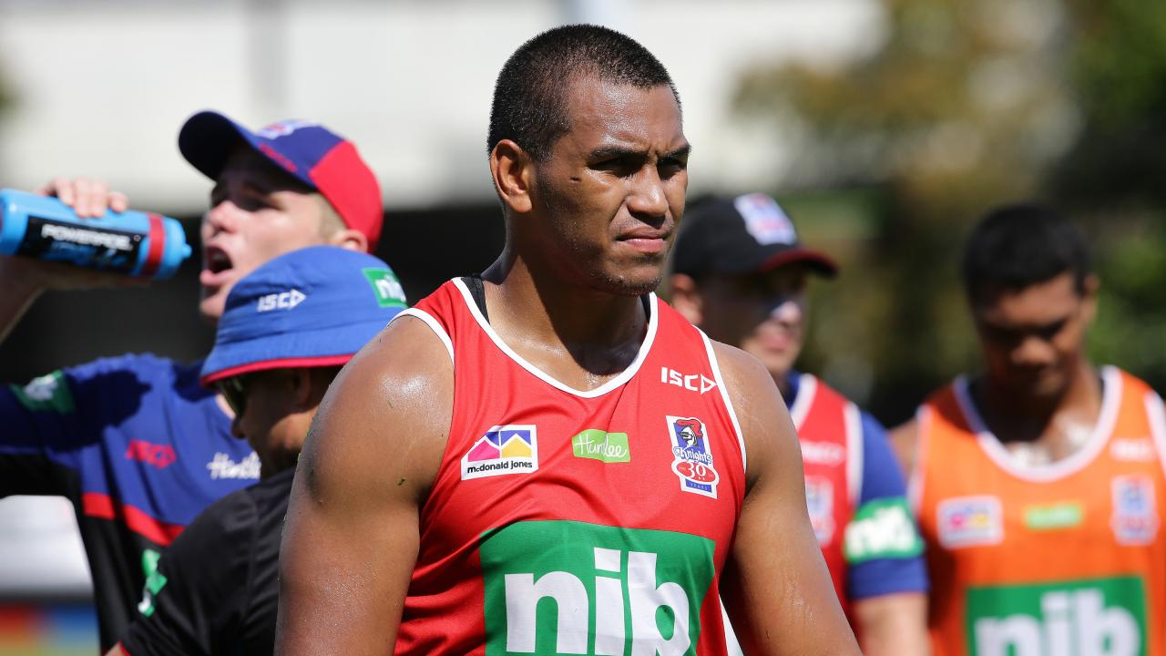 Jacob Saifiti was not charged by police after a fight in Newcastle. Picture: Peter Lorimer.