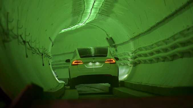 Elon Musk's underground traffic buster is still very much an unproven design. Picture: Robyn Beck.