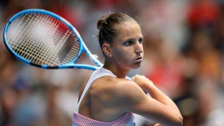 Karolina Pliskova was made to work hard. Picture: Getty Images
