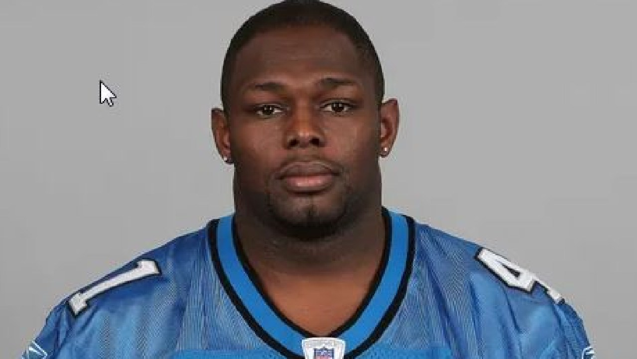 Tony Beckham in his playing days with the Detroit Lions.