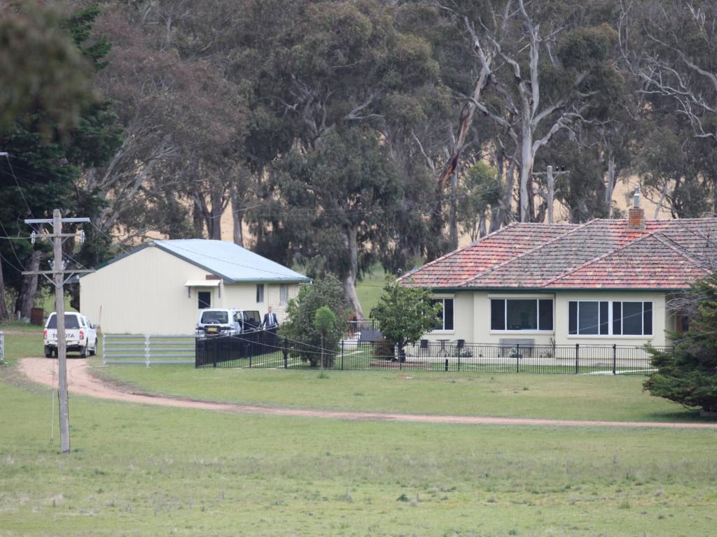 The Walcha property in August 2017, after Mr Dunbar's body was found connected to a helium canister.