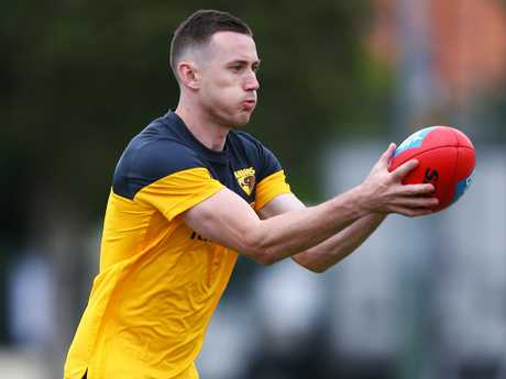 Hawthorn fans will be pleased with the news recruit Tom Scully is progressing well in his recovery from an ankle injury. Picture: Getty Images