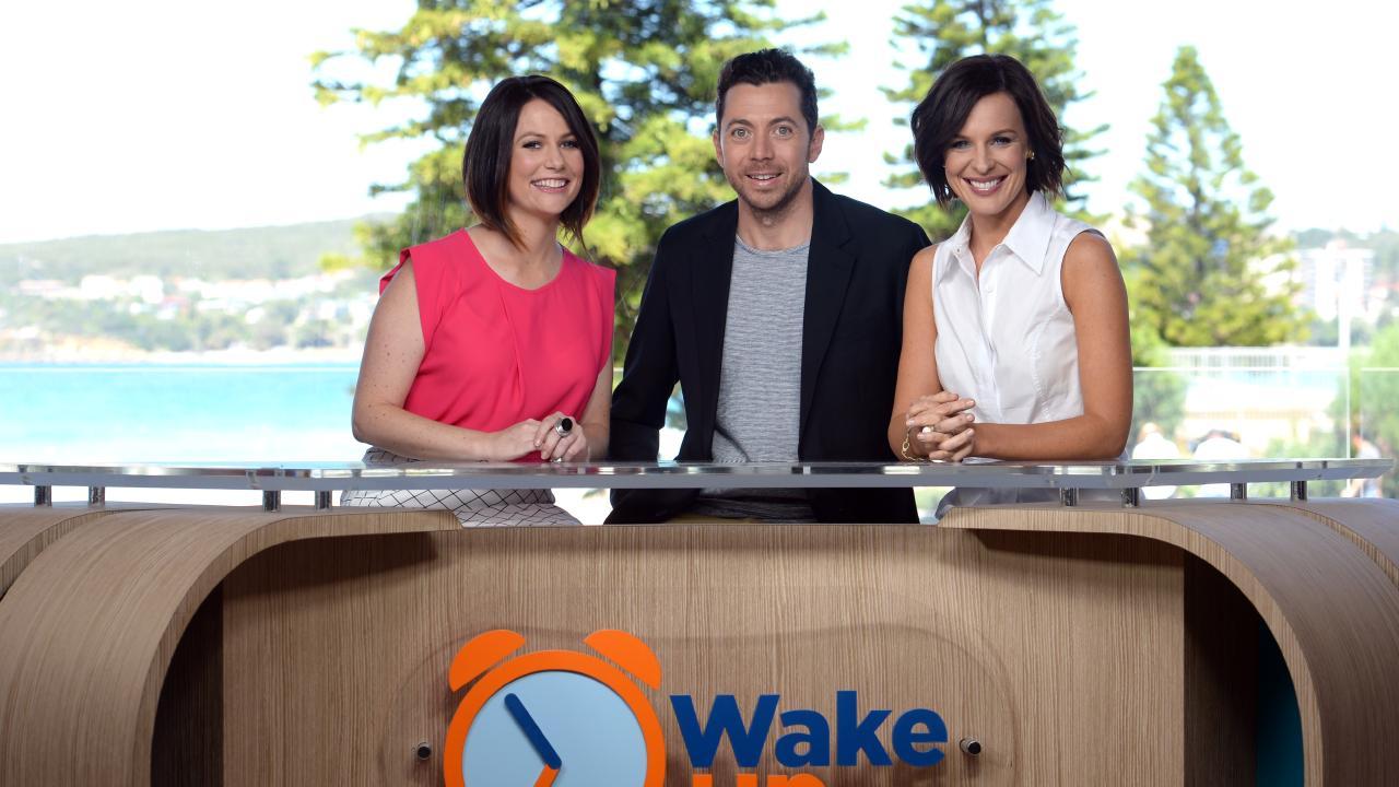 Natasha Exelby (left) on the short-lived Wake Up
