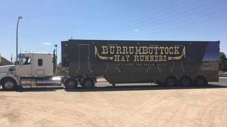 Burrumbuttock Hay Runners are ready for the 2019 Australia Day hay run