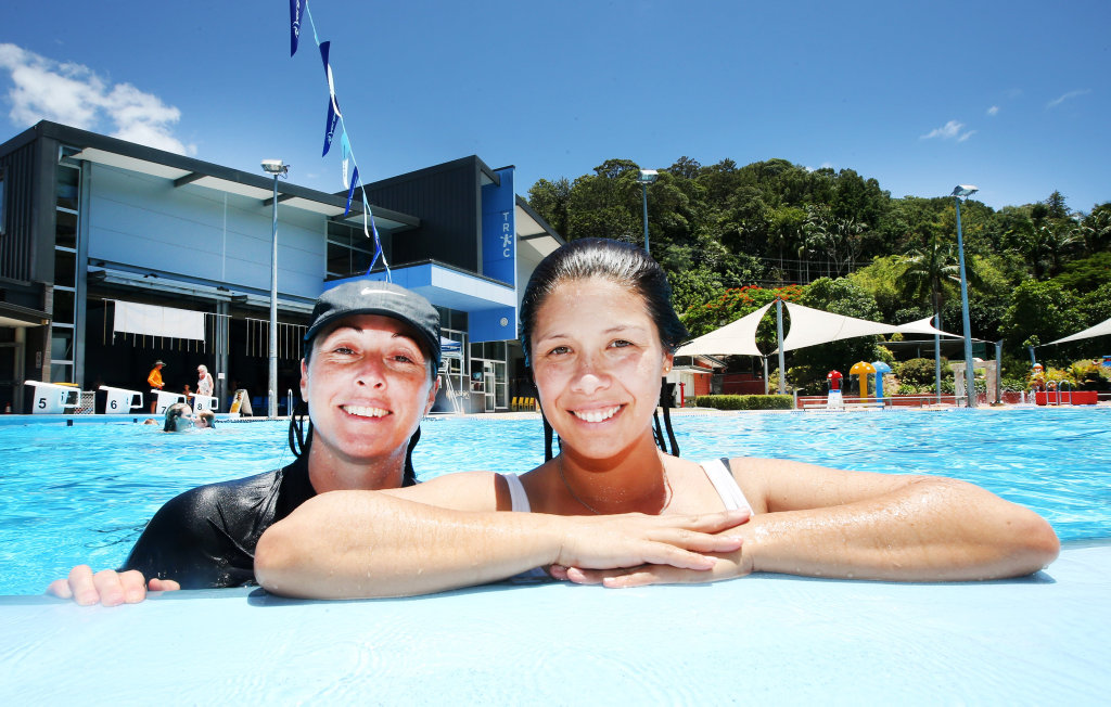 Image for sale: Enjoying a day out at the Murwillumbah Public Pool are Sandra Pabian and Vrinda Hanson