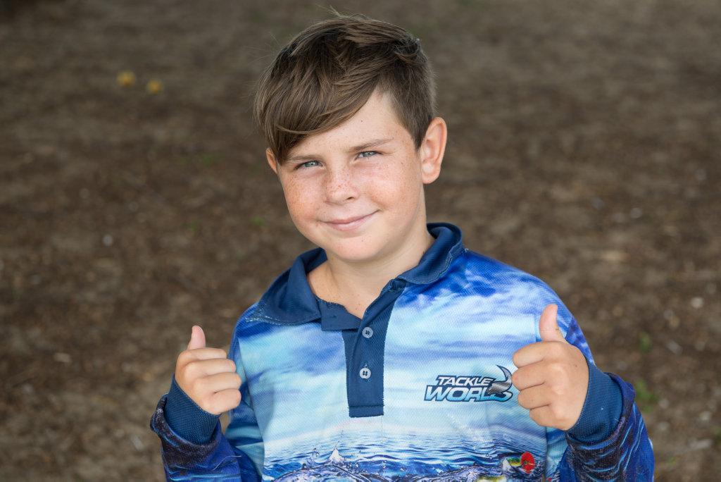 Image for sale: Eli Browne, 9, at Eimeo Beach.