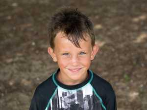 Tyde Reed, 6, at Eimeo Beach.