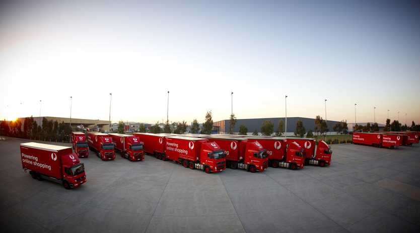 Truckies helped deliver a record Christmas for Australia Post.