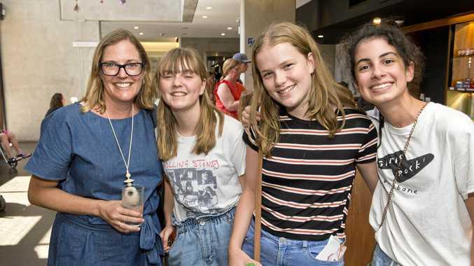 ENCORE PERFORMANCE: Prepared for  Charlotte's Web  at the Armitage Centre- Heritage Bank Auditorium are (from left) Kirsti Ellerton, Catherine Ellerton, Violette Wilson and Layla Borhani.
