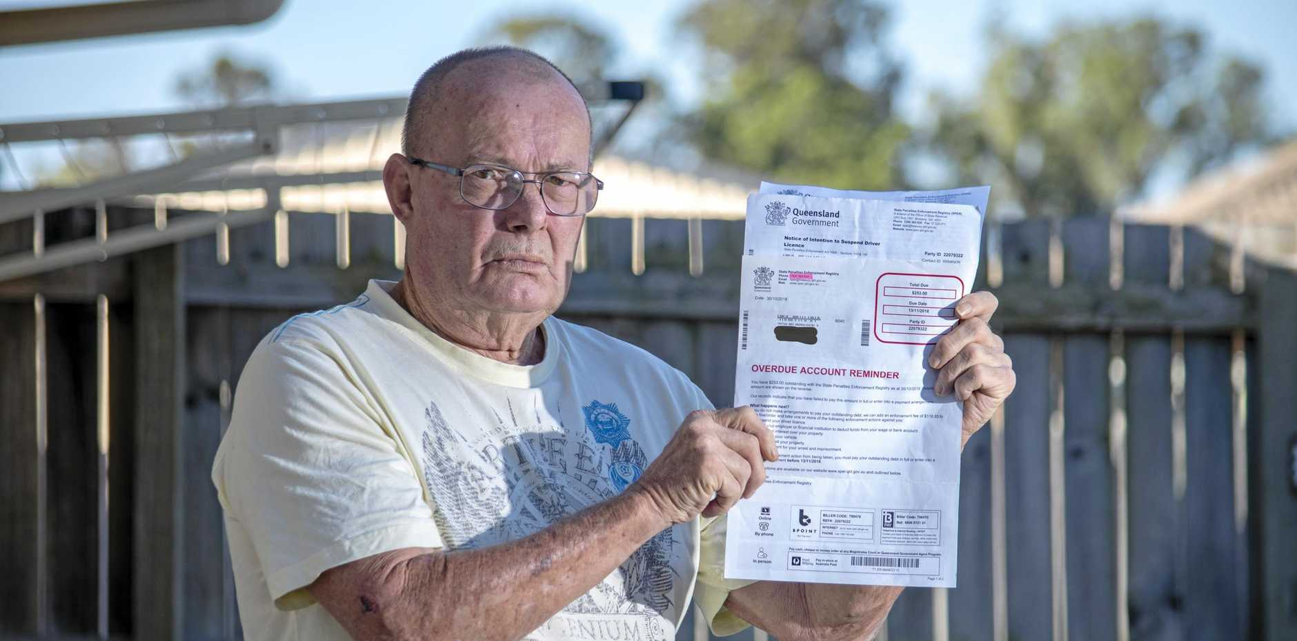 NOT MINE: Ray Berens, of Laidley, has reluctantly paid a fine from eight years ago for a sheep that was not his.