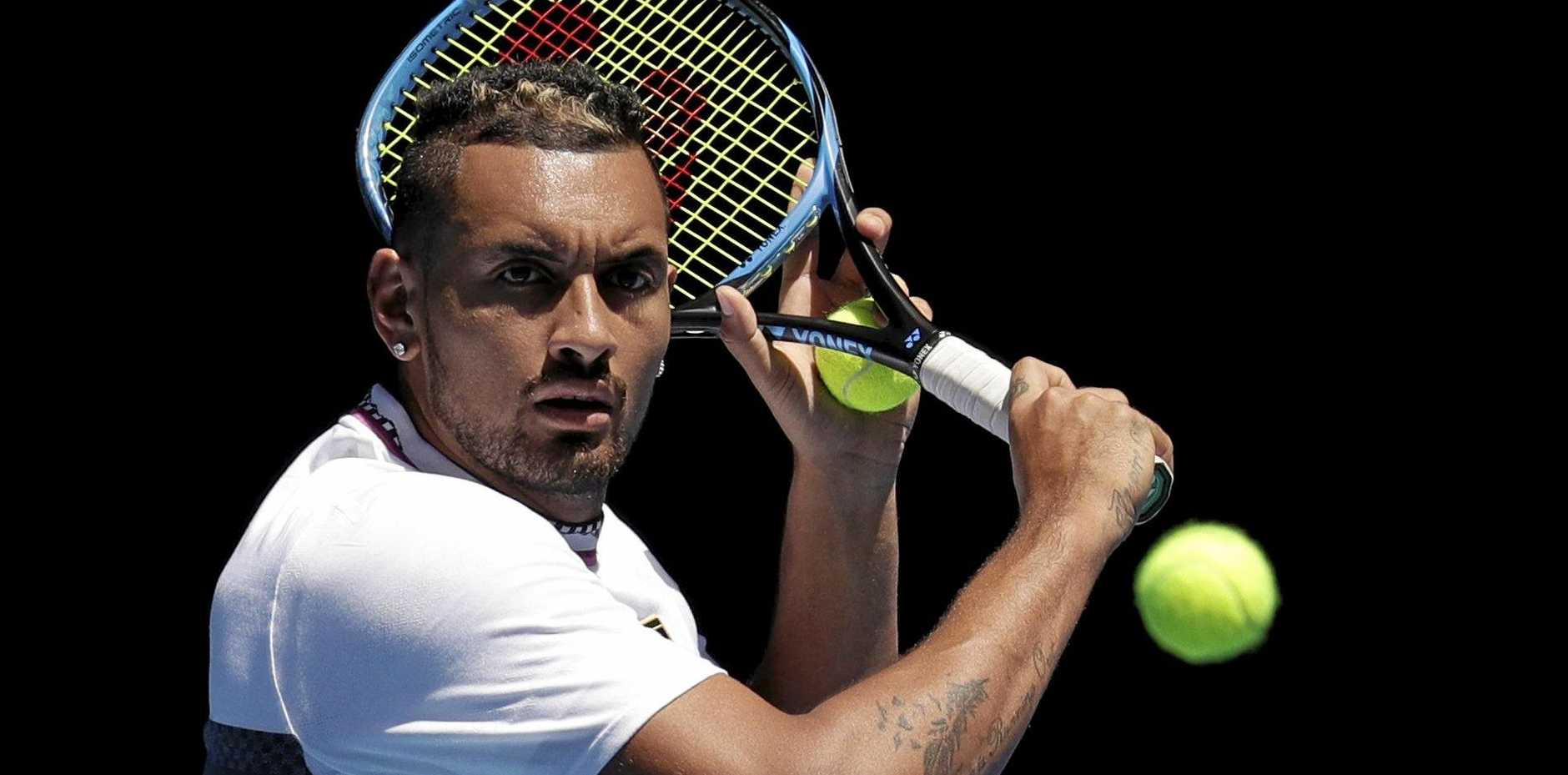 Nick Kyrgios has been sliding but remains Australia's best male hope of securing a grand slam tournament, Sam Groth believes. Picture: Kin Cheung/AP